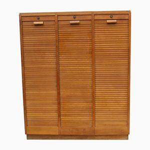 Vintage Oak Tambour Front Cabinet