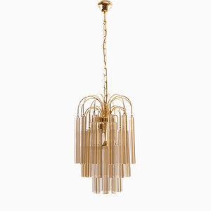 Vintage Chandelier with Murano Glass from Venini