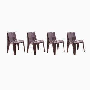 Vintage Stühle aus Glasfaser von Helmut Bätzner für Bofinger, 4er Set