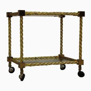 Italian Rope-Twist Brass Table, 1970s