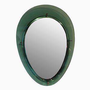 Specchio vintage Freeform color acquamarina
