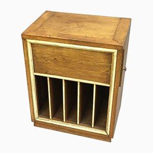Vinyl & Platinum Oak Cabinet, 1930s