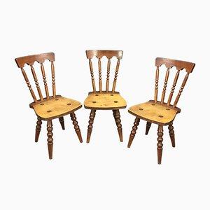 Chaises en Chêne, 1960s, Set de 3
