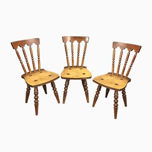 Oak Chairs, 1960s, Set of 3