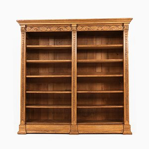 Large Oak Dutch Art Nouveau Open Bookcase, 1900s