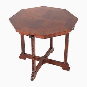 TableArts & Crafts en Acajou par Willem Haver pour J.A.Huizinga, Pays-Bas, 1900s