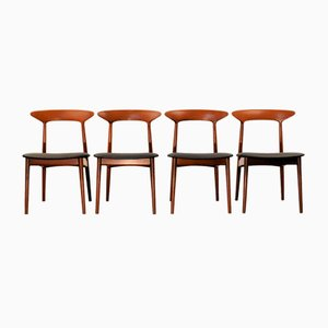 Teak Dining Chairs by Kurt Østervig for Brande Møbelindustri, 1960s, Set of 4