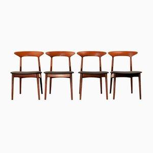 Teak Esszimmerstühle von Kurt Østervig für Brande Møbelindustri, 1960er, 4er Set