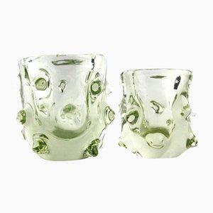 Kleine Murano Glas Vasen, 1960er, 2er Set
