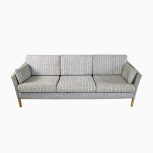 Dänisches Mid-Century 3-Sitzer Nadelstreifen Sofa, 1970er