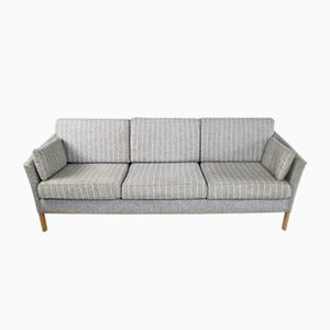 Mid-Century Danish 3-Seater Pinstriped Sofa, 1970s