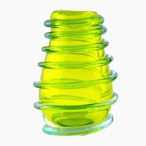 Vaso in vetro di Murano verde, anni '50