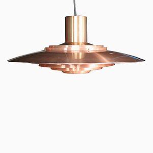 Vintage Copper Pendant by Preben Fabricius & Jørgen Kastholm for Nordisk Solar