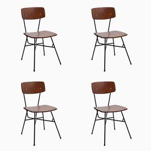 Chaises d'Appoint par BBPR, 1950s, Set de 4