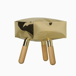 Icenine Brass Stool by 4P1B Design Studio e Antonio de Marco for Edizione Limitata