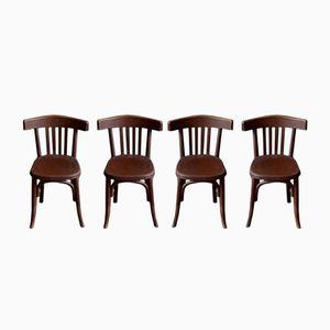 Vintage Bistro Stühle von Fischel, 4er Set