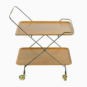 Scandinavian Modern Foldable Teak Serving Trolley, 1960s