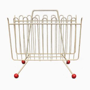Wire Frame Atomic Magazine Rack, 1950s