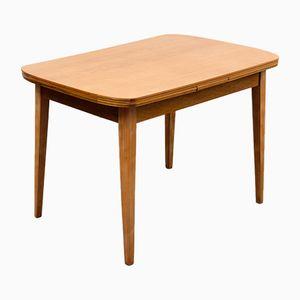 Tavolo da pranzo allungabile impiallacciato in legno di frassino, anni '60