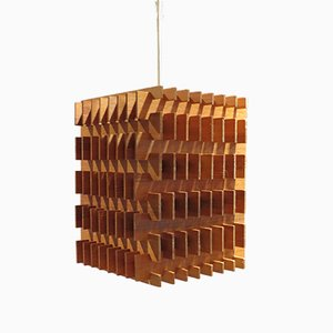 Pine Table Lamp or Ceiling Light by Hans-Agne Jakobsson, 1960s