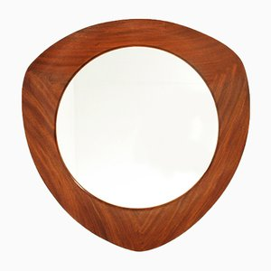 Teak Framed Mirror by Campo E Graffi for Home, 1950s