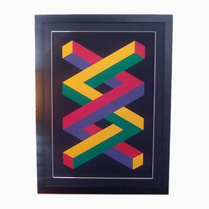 Geometries Impossible Serigraph by Jose Maria Yturralde, 1988