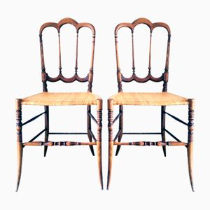 Vintage Tre Archi Bassa Chiavari Chairs by Fratelli Levaggi, Set of 2