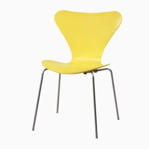 Yellow Butterfly Chair by Arne Jacbosen for Fritz Hansen, 1970s