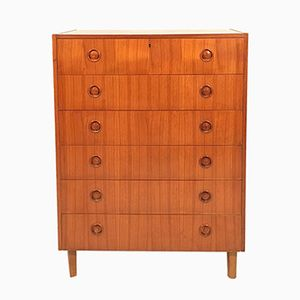 Swedish Teak Chest of Drawers, 1960s