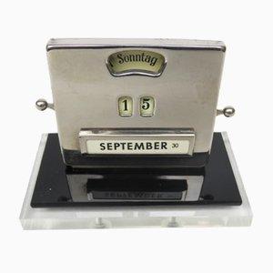 Chromed Perpetual Calendar by Jakob Maul, 1930s