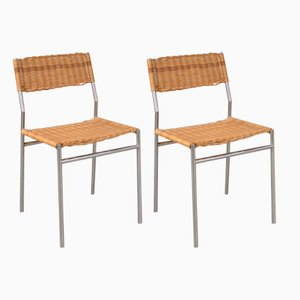 Minimalist Dining Chairs by Martin Visser for 't Spectrum, 1960s, Set of 2