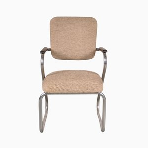 Desk Chair in Tubular Metal by Paul Schuitema for Fana, 1950s