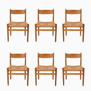 Chaises de Salon Scandinaves par Hans J. Wegner pour Carl Hansen & Søn, 1950s, Set de 6