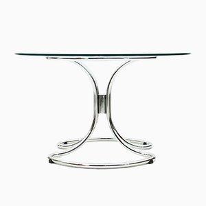 Esstisch aus Glas & Stahl von Giotto Stoppino, 1960er
