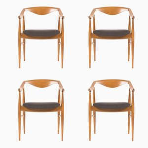Armchairs, 1950s, Set of 4