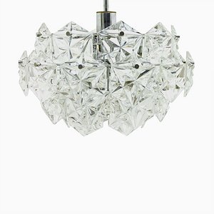 German Crystal Glass Chandelier by Kinkeldey, 1960s