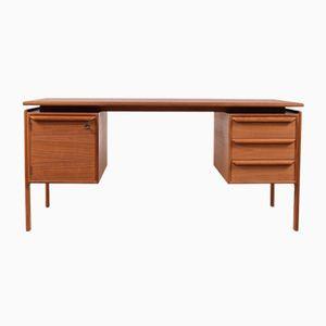 Danish Teak Desk by G.V. Gasvig for GV Møbler, 1950s