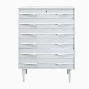 Danish White Six-Drawer Chest of Drawers, 1960s