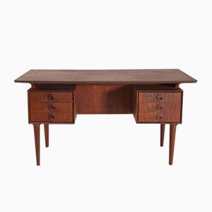 Mid-Century Teak Schreibtisch mit Sechs Schubladen