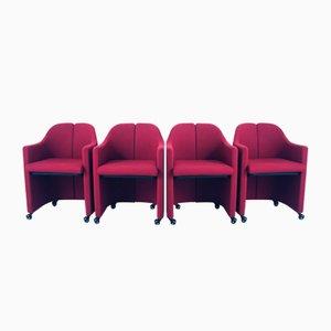 PS142 Sessel von Eugenio Gerli für Tecno, 1960er, 4er Set