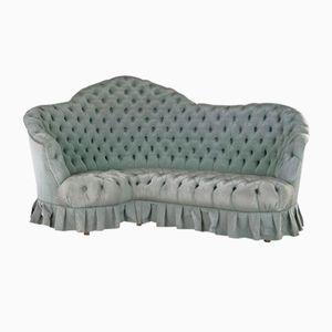 Curved Velvet Sofa, 1950s