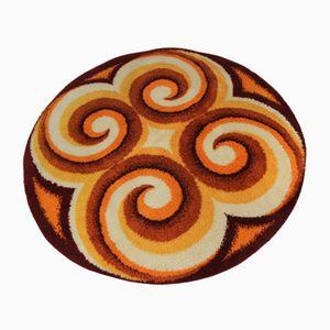 Mid-Century Scandinavian Circular Rug, 1960s