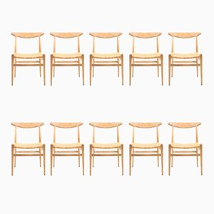 Oak Dining Chairs from Hans J. Wegner for C.M. Madsen, 1960s, Set of 10