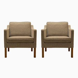 Vintage Model 2321 Easy Chairs by Børge Mogensen for Fredericia, Set of 2