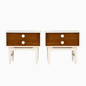 midcentury modernstyle nightstands set of 2