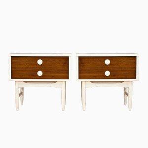 Tables de Chevet Mid-Century Modernes, Set de 2