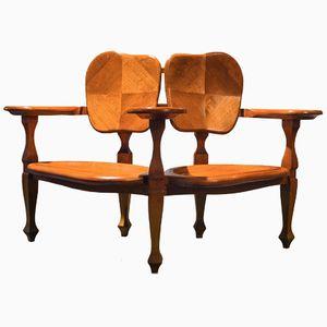 Antique Dual Seating Unit by Antoni Gaudi for Alivar
