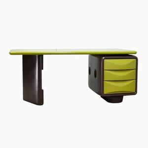 Zweifarbiger Jet Schreibtisch von Ernest Igl, 1970er