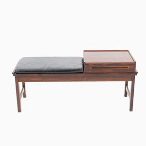 Danish Bench in Rosewood by Johannes Andersen for CFC Silkeborg, 1960s