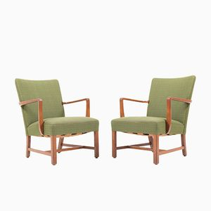 Lounge Chairs by Jacob Kjaer, 1930s, Set of 2